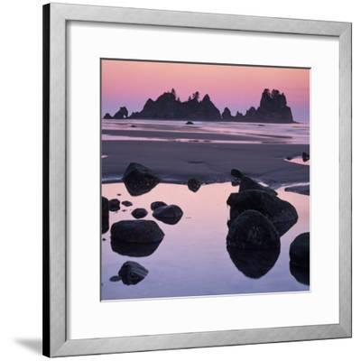 Shi Shi Beach, Olympic National Park, Washington, USA-Charles Gurche-Framed Photographic Print