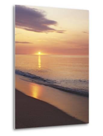 Sunrise over Atlantic, Cape Cod National Seashore, Massachusetts, USA-Charles Gurche-Metal Print