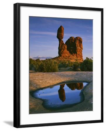 Balanced Rock, Arches National Park, Utah, USA-Charles Gurche-Framed Photographic Print