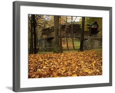 Humpback Covered Bridge, Covington, Virginia, USA-Charles Gurche-Framed Photographic Print