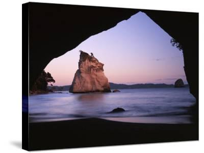 Coastline, Cathedral Cove, Coromandel Peninsula, North Island, New Zealand-Charles Gurche-Stretched Canvas Print