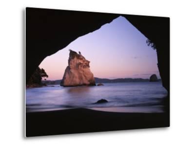 Coastline, Cathedral Cove, Coromandel Peninsula, North Island, New Zealand-Charles Gurche-Metal Print