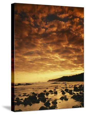 Sunrise at Honokohau Bay, Maui, Hawaii, USA-Charles Gurche-Stretched Canvas Print