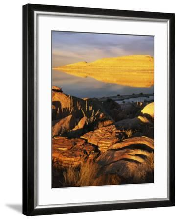Stansbury Island, Great Salt Lake, Utah, USA-Charles Gurche-Framed Photographic Print