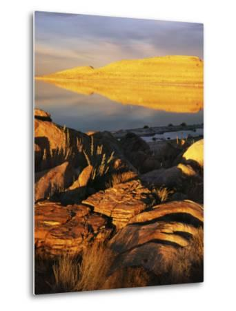 Stansbury Island, Great Salt Lake, Utah, USA-Charles Gurche-Metal Print