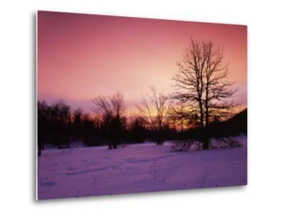 Sunrise at Thorton Gap, Shenandoah National Park, Virginia, USA-Charles Gurche-Metal Print