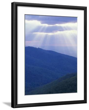 Sunrise over Buck Hollow, Shenandoah National Park, Virginia, USA-Charles Gurche-Framed Photographic Print