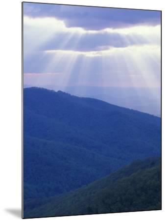 Sunrise over Buck Hollow, Shenandoah National Park, Virginia, USA-Charles Gurche-Mounted Photographic Print