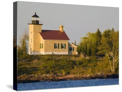 Lighthouse on Lake Superior, Copper Harbor, Michigan, USA-Chuck Haney-Stretched Canvas Print