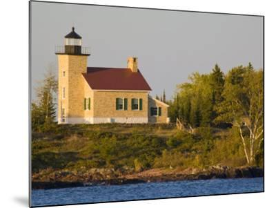 Lighthouse on Lake Superior, Copper Harbor, Michigan, USA-Chuck Haney-Mounted Photographic Print