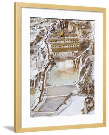 Salt Ponds, Maras, Peru-Diane Johnson-Framed Photographic Print