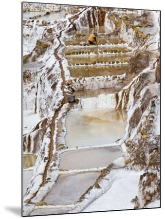Salt Ponds, Maras, Peru-Diane Johnson-Mounted Photographic Print