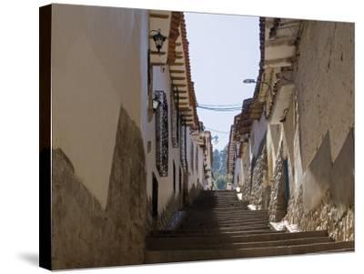 Old Inca Wall Foundations, Cusco, Peru-Diane Johnson-Stretched Canvas Print