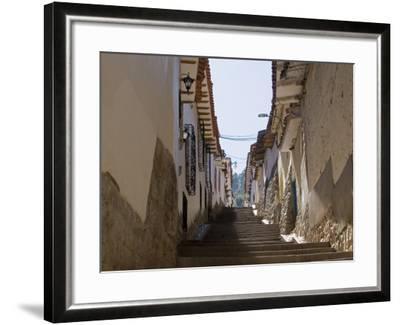 Old Inca Wall Foundations, Cusco, Peru-Diane Johnson-Framed Photographic Print