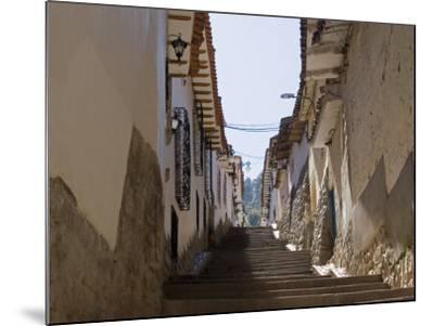 Old Inca Wall Foundations, Cusco, Peru-Diane Johnson-Mounted Photographic Print