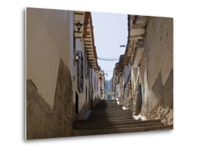 Old Inca Wall Foundations, Cusco, Peru-Diane Johnson-Metal Print