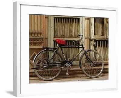 Bicycle in narrow gully, Delhi, India-Adam Jones-Framed Photographic Print