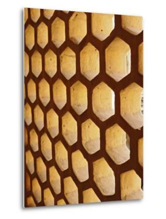 Architectural details, Amber Fort, Jaipur, India-Adam Jones-Metal Print