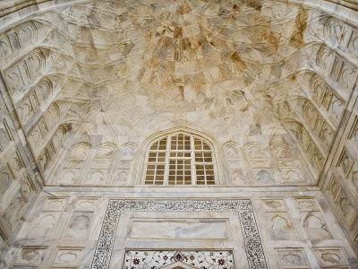 Architectural details, Taj Mahal, Agra, India-Adam Jones-Premium Photographic Print