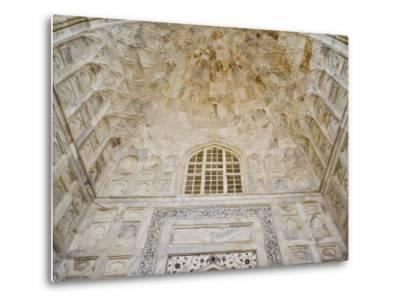 Architectural details, Taj Mahal, Agra, India-Adam Jones-Metal Print