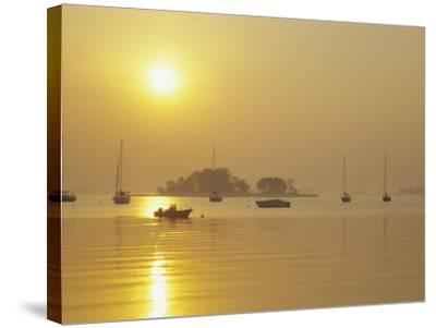 Tavern Island at Sunrise, Rowayton, Connecticut, USA-Alison Jones-Stretched Canvas Print