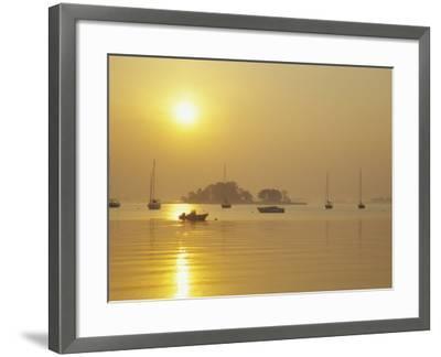 Tavern Island at Sunrise, Rowayton, Connecticut, USA-Alison Jones-Framed Photographic Print