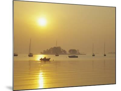 Tavern Island at Sunrise, Rowayton, Connecticut, USA-Alison Jones-Mounted Photographic Print