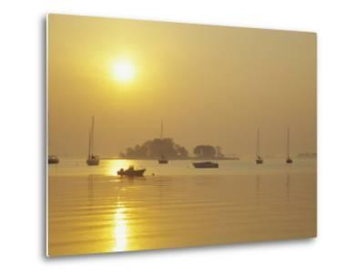 Tavern Island at Sunrise, Rowayton, Connecticut, USA-Alison Jones-Metal Print