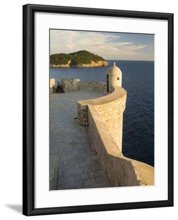 Old city walls built 10th century, Dubrovnik, Dalmatia, Croatia-John & Lisa Merrill-Framed Photographic Print