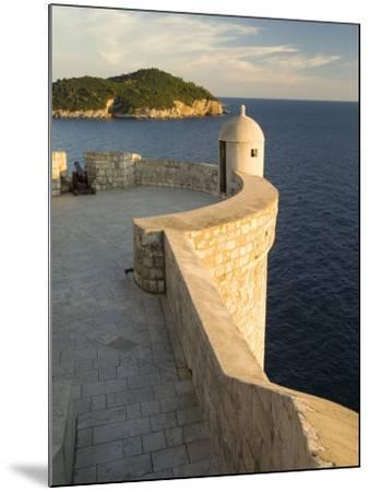 Old city walls built 10th century, Dubrovnik, Dalmatia, Croatia-John & Lisa Merrill-Mounted Photographic Print