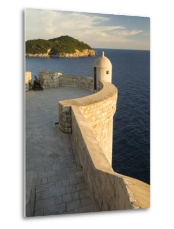 Old city walls built 10th century, Dubrovnik, Dalmatia, Croatia-John & Lisa Merrill-Metal Print