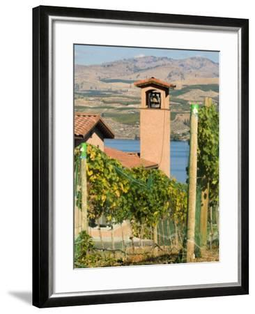 Mountains and Lake Chelan, Columbia Valley Appellation, Washington, USA-Janis Miglavs-Framed Photographic Print