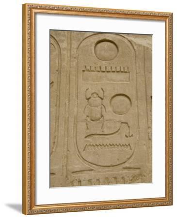 Hieroglyphics detail, Karnak Temple, East Bank, Luxor, Egypt-Cindy Miller Hopkins-Framed Photographic Print