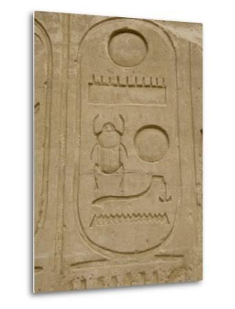 Hieroglyphics detail, Karnak Temple, East Bank, Luxor, Egypt-Cindy Miller Hopkins-Metal Print
