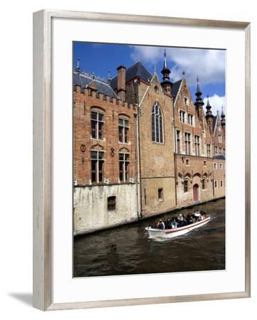 Medieval Architecture along the Canals of Brugge, Belgium-Cindy Miller Hopkins-Framed Photographic Print