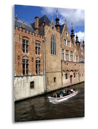 Medieval Architecture along the Canals of Brugge, Belgium-Cindy Miller Hopkins-Metal Print