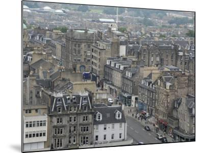 New Town from Edinburgh Castle, Scotland-Cindy Miller Hopkins-Mounted Photographic Print