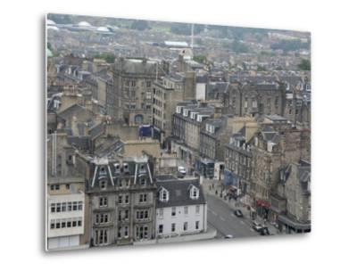 New Town from Edinburgh Castle, Scotland-Cindy Miller Hopkins-Metal Print