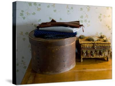 Sewing Box, Anne of Green Gables Home, Prince Edward Island, Canada-Cindy Miller Hopkins-Stretched Canvas Print