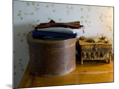 Sewing Box, Anne of Green Gables Home, Prince Edward Island, Canada-Cindy Miller Hopkins-Mounted Photographic Print