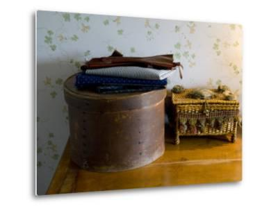 Sewing Box, Anne of Green Gables Home, Prince Edward Island, Canada-Cindy Miller Hopkins-Metal Print