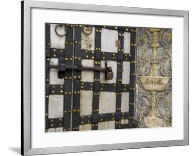 Iron Locked Door, The Kremlin, Moscow, Russia-Cindy Miller Hopkins-Framed Photographic Print