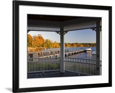 View of Lake Winnipesauke, Wolfeboro, New Hampshire, USA-Jerry & Marcy Monkman-Framed Photographic Print