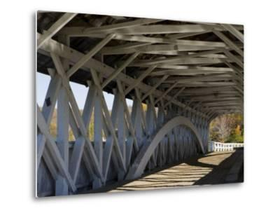 Covered Bridge over the Upper Ammonoosuc River, Groveton, New Hampshire, USA-Jerry & Marcy Monkman-Metal Print