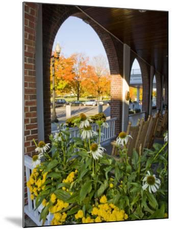 Front Porch of the Hanover Inn, Dartmouth College Green, Hanover, New Hampshire, USA-Jerry & Marcy Monkman-Mounted Photographic Print
