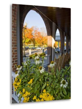 Front Porch of the Hanover Inn, Dartmouth College Green, Hanover, New Hampshire, USA-Jerry & Marcy Monkman-Metal Print