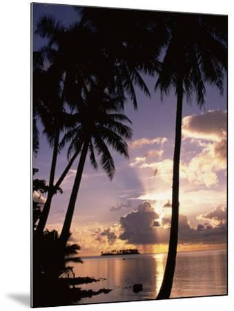 Sunset, Moorea, French Polynesia-Douglas Peebles-Mounted Photographic Print