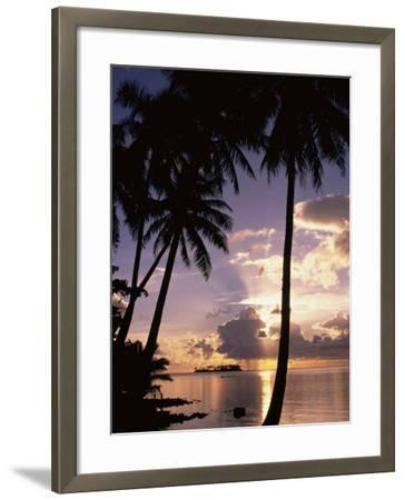 Sunset, Moorea, French Polynesia-Douglas Peebles-Framed Photographic Print