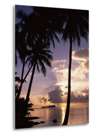 Sunset, Moorea, French Polynesia-Douglas Peebles-Metal Print