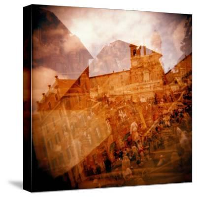 Montage of the Spanish Steps, Rome, Italy-Nancy & Steve Ross-Stretched Canvas Print